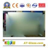 vetro di vetro inciso acido di 2-19mm /Frosted usato per la finestra, la mobilia, il portello, la stanza da bagno, ecc