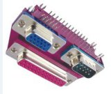 D-SUB Stapel-Verbinder-regelmäßiger Verbinder für Computer 25/9+H.D15