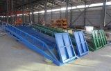 La rampa del muelle de carga de contenedores hidráulicos