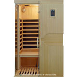 Cabine infrarouge de pièce en bois portative de sauna pour 2 personnes