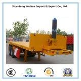 2 ejes de cama plana Dumper volquete trasero del chasis de remolque de la fábrica de China