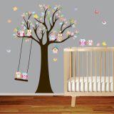 Murales movibles autos-adhesivo de encargo de la pared del vinilo del arte del árbol para el sitio de base de bebé