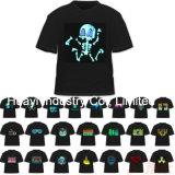 EL LED beleuchten oben blinkende Hemden mit Firmenzeichen-Drucken