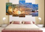 HD напечатало свет захода солнца отражая в картине волны на изображении Mc-047 плаката печати украшения комнаты холстины