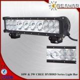 56W barre d'éclairage LED de CREE d'Amber&Green&White de 10.5 pouces