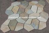 A cultura de ladrilhos de ardósia Rusty Slate Cultura mosaico de pedra