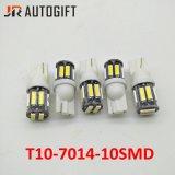 12V/24V autoBollen Clearence T10 7014 het Binnenlandse Licht van de Koepel 7020 10SMD