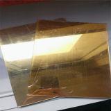 Espelho de ouro de Alta Qualidade Folha de acrílico