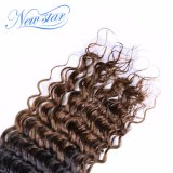 Выдвижение человеческих волос девственницы волны Ombre новой звезды 2017 популярное глубокое