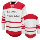 Umschaltbare Großhandelssublimation-preiswertes kundenspezifisches Eis-Hockey Jersey