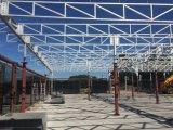 Costruzione del tetto del padiglione della struttura d'acciaio con la grondaia inossidabile