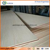 Madera contrachapada blanca de la melamina de la base 18m m de la madera dura del pegamento E0 para los muebles