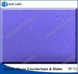 Dessus en pierre de Tableau de quartz pour la décoration à la maison avec l'état de GV et le certificat de la CE (couleurs pures)