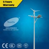 Haute puissance du vent solaire Rue lumière hybride avec batterie au lithium