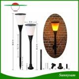 Lampe de clignotement imperméable à l'eau de la cour 96 DEL de jardin d'usage de verre à vin de la forme DEL de torche de lumière solaire souple de flamme