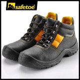 Промышленные кожаный ботинки безопасности (M-8027)