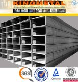 Prezzo quadrato d'acciaio galvanizzato della conduttura del TUFFO caldo BS1387