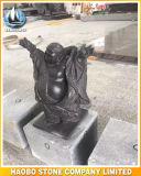 Lachende Buddha-Steinstatue handgemacht