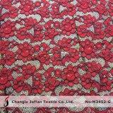 Хлопок кружевной вышивкой шнур кружевной ткани для платьев (M3452-G)