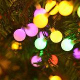 Casamento Festa de Natal Terra Multicolorful String Solar de parede decoração faixa lâmpada LED de luz da lâmpada de sinalização de Esferas