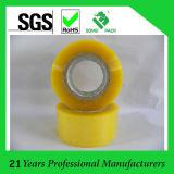 Forte contenitore adesivo di colla che impacca il nastro giallastro dell'imballaggio della radura OPP dell'OEM