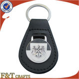 Trousseau de clés en cuir fait sur commande tressé en métal de la Chine de modèle neuf bon marché (FTKC1859A)