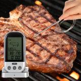 BBQ van de Oven van de Roker van de lange Waaier de Verre Draadloze Digitale Thermometer van het Vlees met de Sonde van het Roestvrij staal