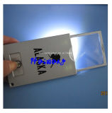 Custom Wholesale Reading Magnifying Card com luz