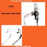 Écouteur acoustique de tube avec le microphone de PTTs pour la radio Tc-320