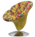 직물에 의하여 덮개를 씌우는 피튜니아 꽃 여가 의자