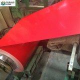 De vooraf geverfte Gegalvaniseerde Rol van het Staal met de Witte Rode Basis van de Bloem van Directe Vervaardiging