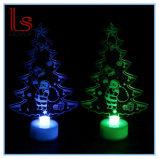 Buntes acrylsauerlicht des Weihnachtsbaum-LED