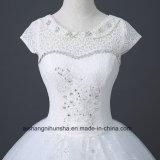 Luxuxkristallc$fußboden-länge Hochzeits-Kleid mit Spitze