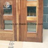 Portello di entrata di legno solido della noce nera