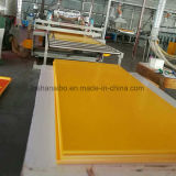 feuille jaune de devise de panneau de bordage de mousse de PVC de 1.22X2.44m