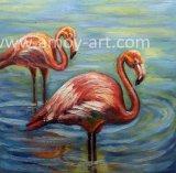 Het noordse Olieverfschilderij van de Flamingo van de Stijl op Canvas