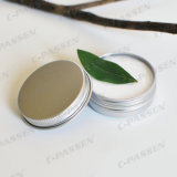 tarro poner crema cosmético de aluminio 100g con la tapa de Scew
