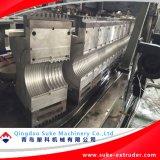 PE/PVC sondern aus,/doppel-wandige gewölbte Rohr-Produktions-Strangpresßling-Maschinen-Zeile