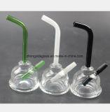 Narghilé di vetro verde, nero, bianco 5.9 pollici