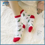 Christmas Knitting machine Christmas Socks Women Meia Sokken Xmas