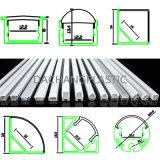 Difusor em policarbonato ou acrílico fosco para perfil de alumínio LED Alp001R