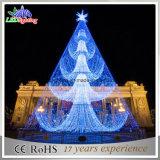 ホテルLEDは3D鋼鉄木の装飾LEDのモチーフライトクリスマスツリーをつける