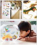 Neuer Entwurf, der mehrfachverwendbares Aufkleber-Buch für Kinder färbt