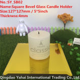 4mm Yellow Glass Candle Holder