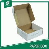 Caixas de embalagem onduladas brancas da cópia feita sob encomenda