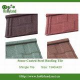 Hoja con techo de acero recubierto de piedra (plaqueta tipo)