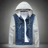 Hoodieの男女兼用の方法デニムのジャケット