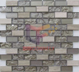 Mosaico di vetro poco costoso della pietra della miscela di disegno semplice (CFS699)