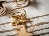 Última estrelas douradas clipes de mola da bobina de grampo para cabelo joalharia