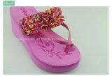 Flip-flop piano del nuovo di modo di estate fiore femminile dei sandali